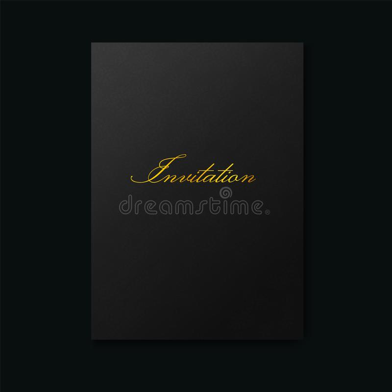 Black textured background of luxury premium paper.  stock illustration