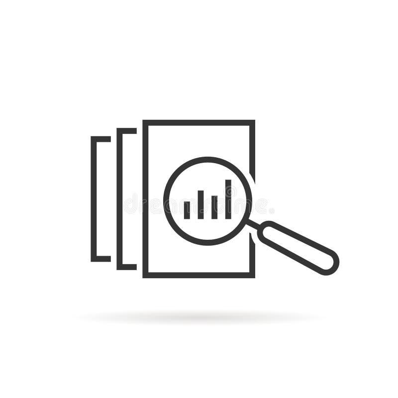 Black thin line assessment logo stock illustration