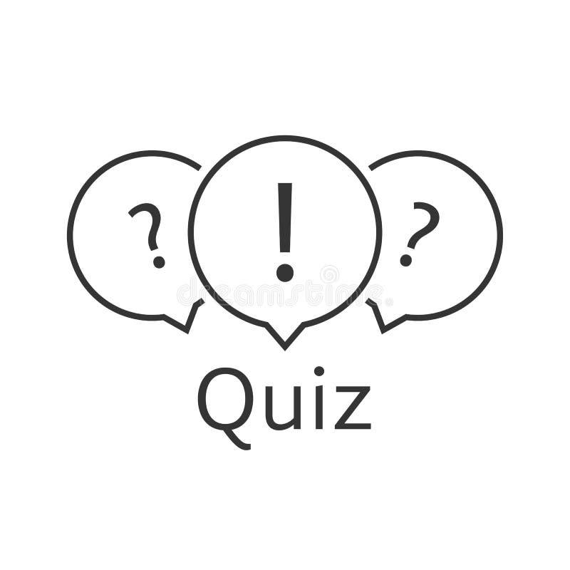 Black thin line quiz logo royalty free illustration