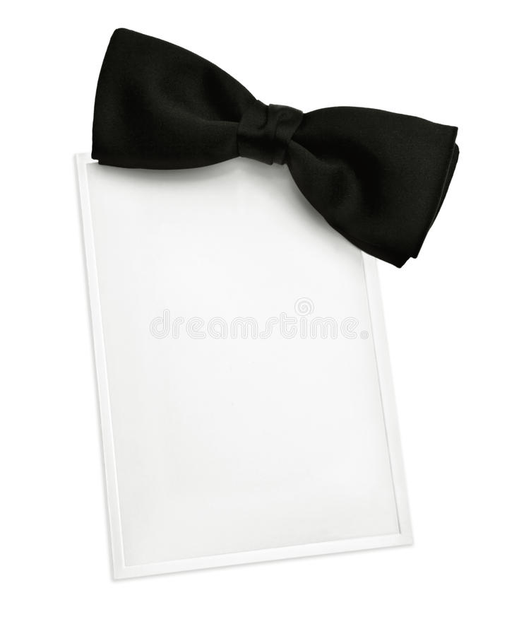 Black Tie Invitation stock photos
