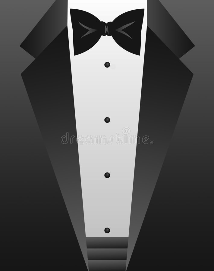 Free Black Tie Tuxedo/eps Royalty Free Stock Image - 1277836