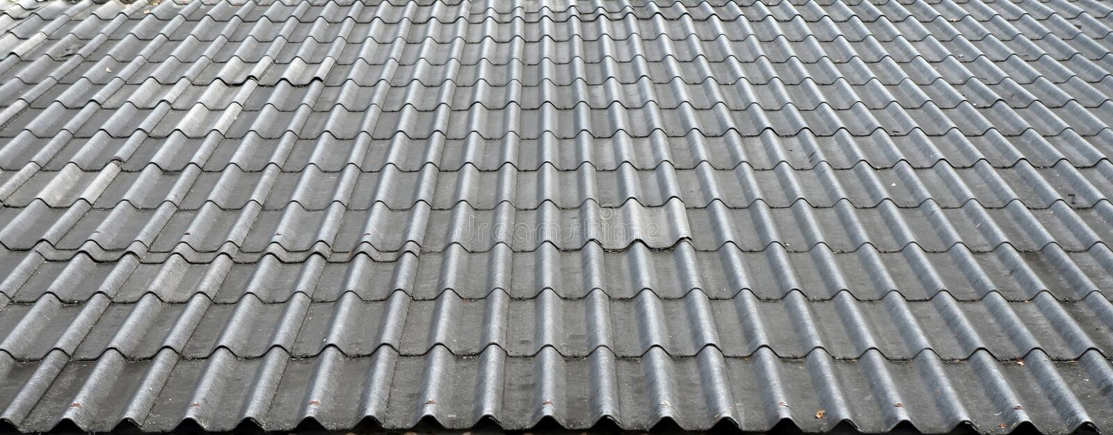 Black tiled roof royalty free stock image