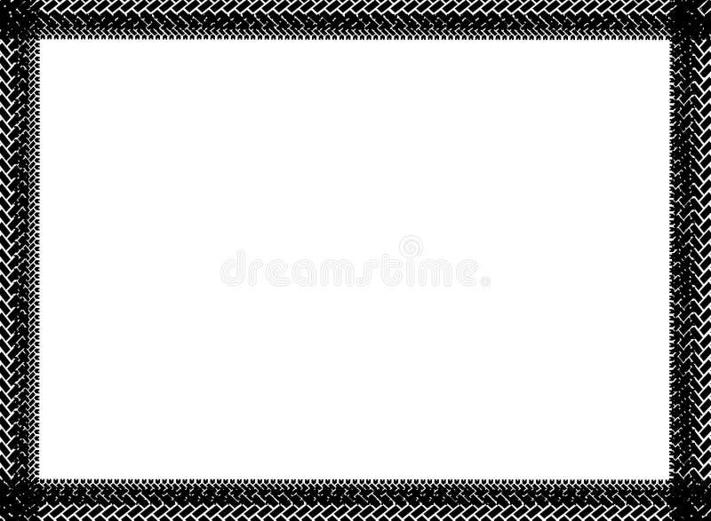 Black tire marks frame vector illustration
