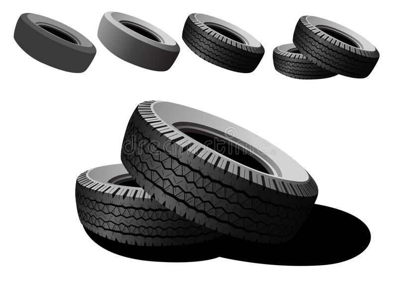 Black tires stock image