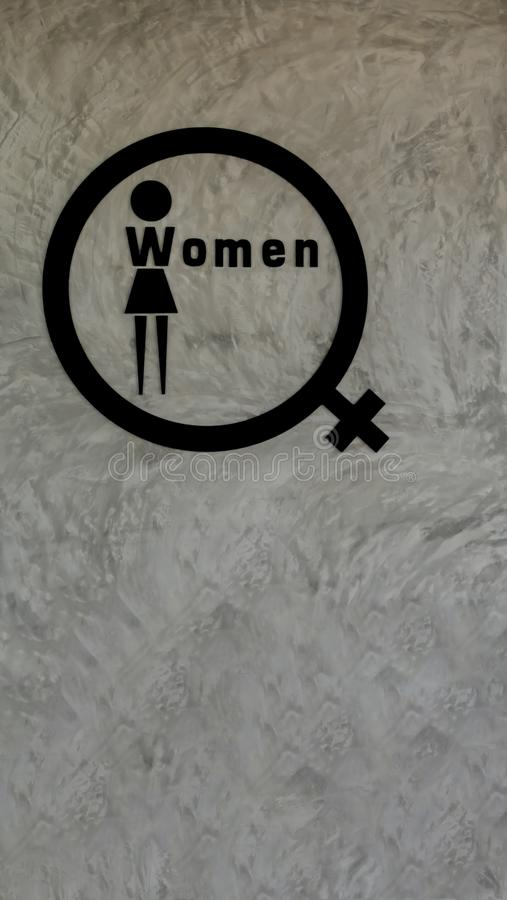 Woman logo restroom royalty free stock photography