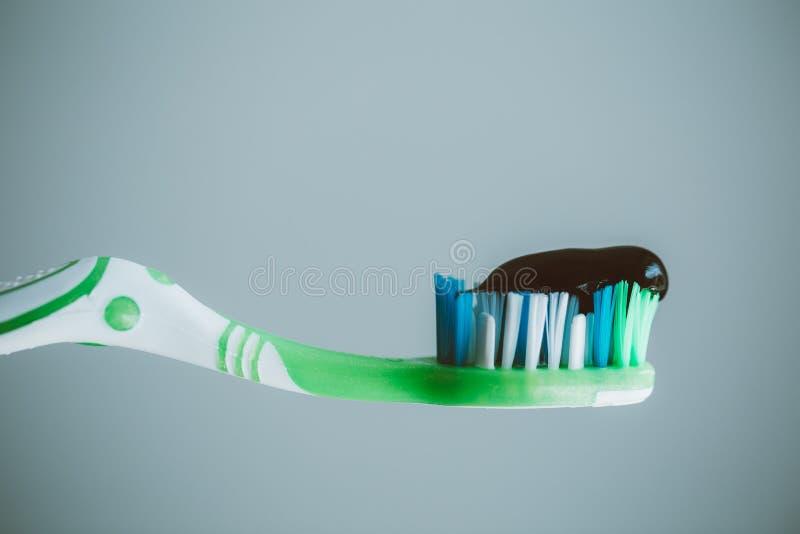 Black toothpaste royalty free stock photo