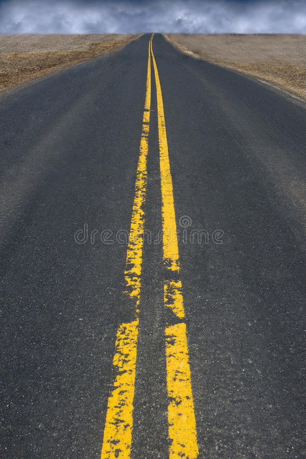 Free Black Top Asphalt Highway Road, Storm Clouds In Distance Royalty Free Stock Photo - 39750405