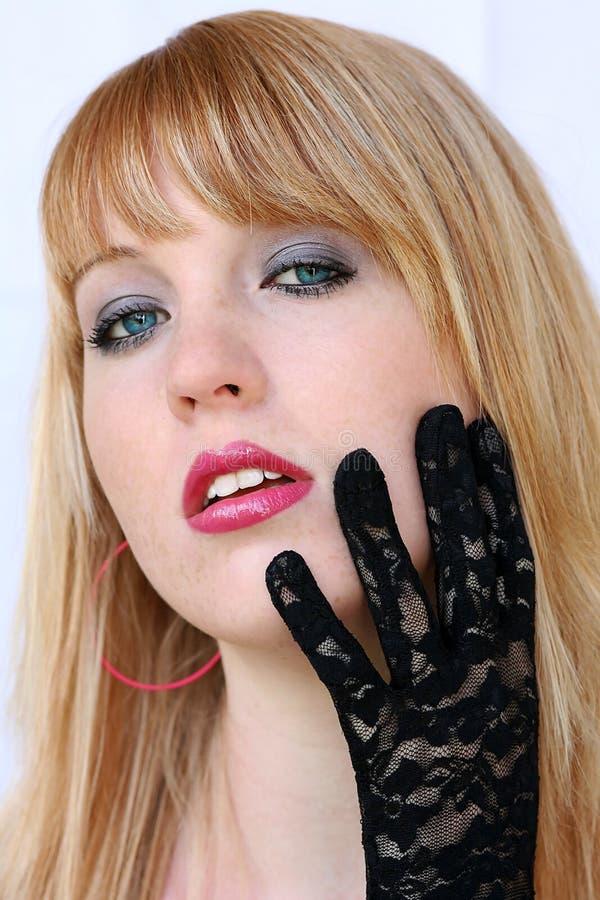 Black top gloves stock photo