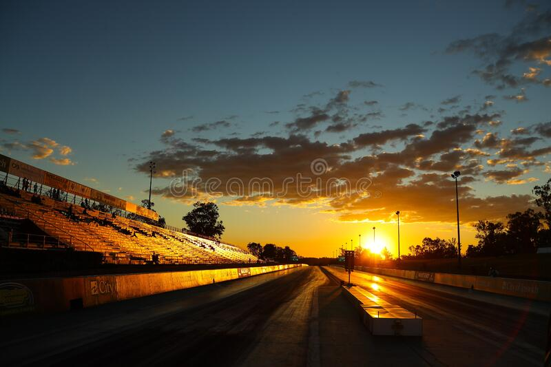 Black Top Road during Sunset stock photography