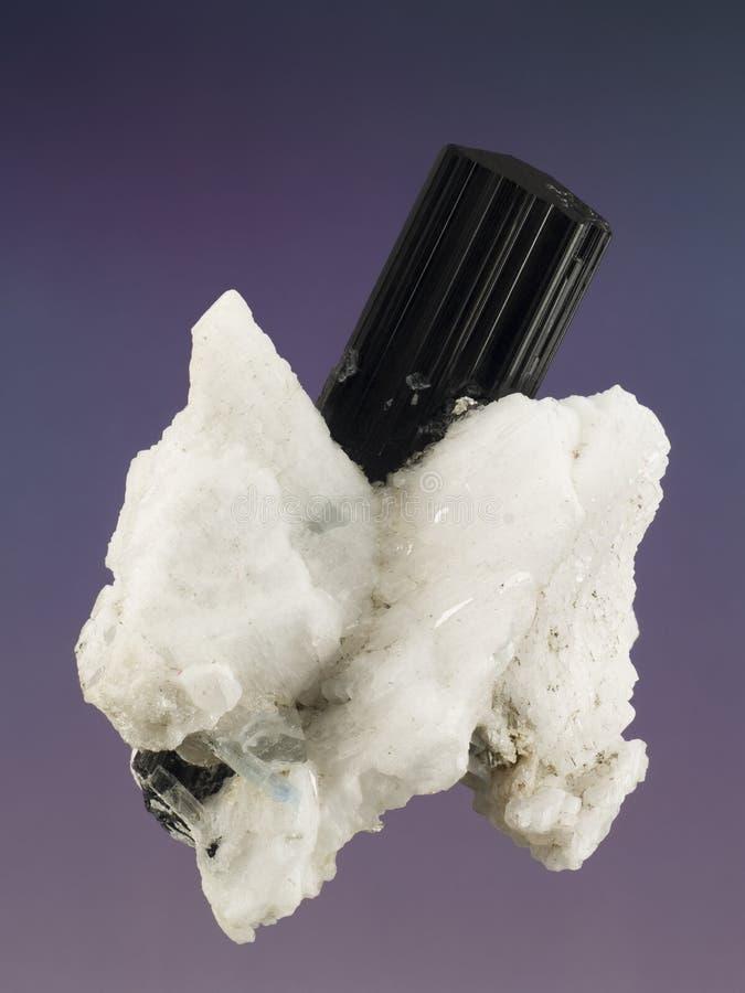 Black Tourmaline 2. Close up of a black tourmaline mineral stock image