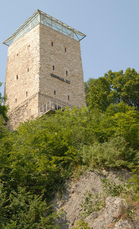 The Black Tower from Brasov, Romania stock photo