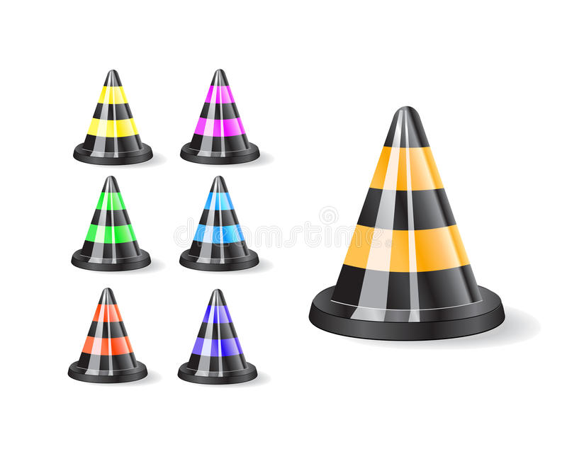Download Black traffic cones icon stock vector. Image of object - 19512754