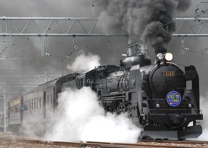 Black Train On Rail And Showing Smoke Free Public Domain Cc0 Image