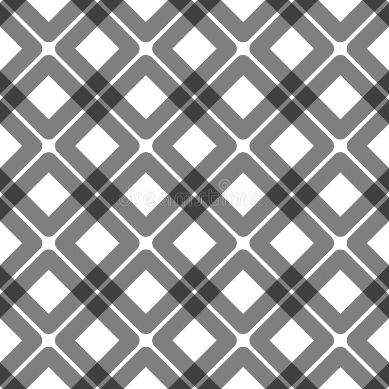 Overlapping squares Seamless Pattern royalty free illustration