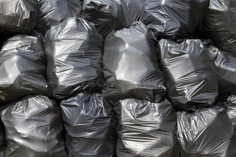 Download Black trash bags stock photo. Image of consumerism, consumption - 25913190