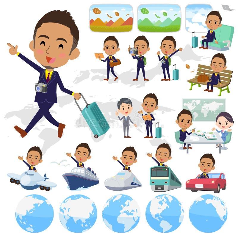 Black_travel del hombre de negocios del pelo de Berry Short ilustración del vector