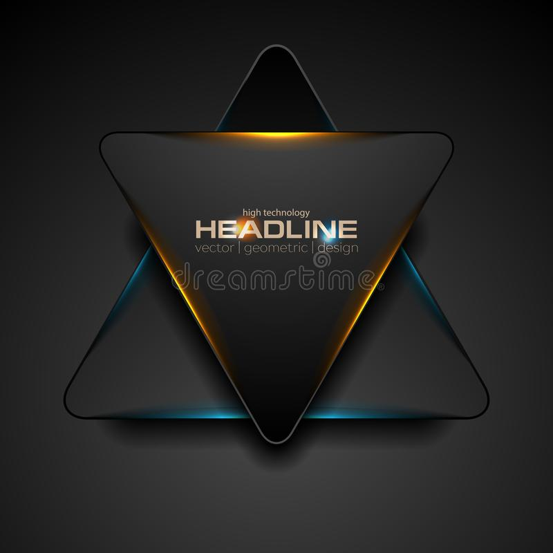 Free Black Triangle With Blue Orange Light Abstract Background Stock Photography - 121459872