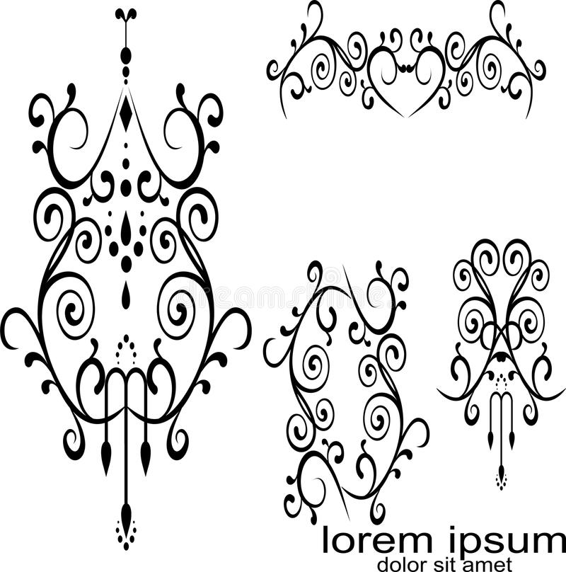 Black Tribal Tattoo Wallpaper And Picture Stock Vector