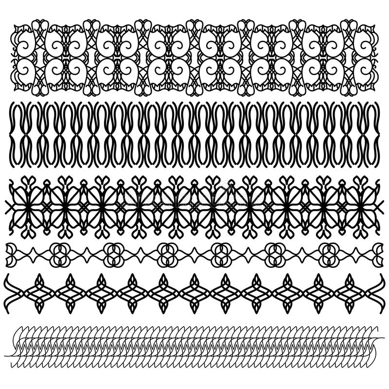 Black trim collection royalty free illustration
