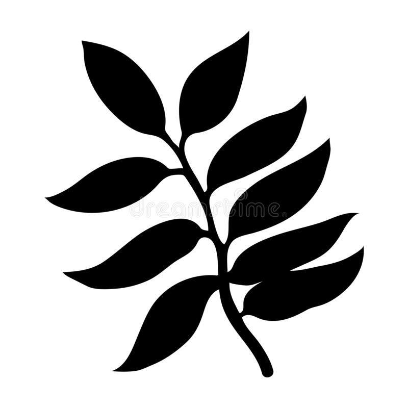 Black Tropical Leaf On White Background For Decoration Design Leaf Icon Palm Tree Silhouette Vector Silhouette Illustration Stock Vector Illustration Of Leaf Exotic 169094947 The most common tropical leaf icon material is paper. black tropical leaf on white background