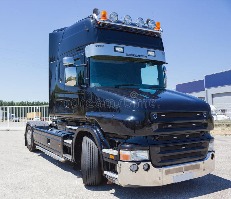 Download Black truck stock image. Image of heavy, power, pulling - 26888927