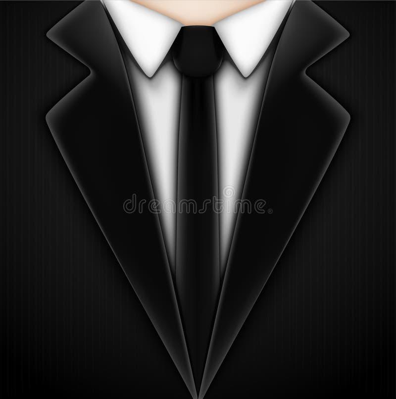 Black Tuxedo With Tie Stock Vector Illustration Of Jacket 28511291