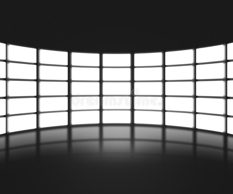 Black TV Show Stage Backdrop. Black TV Show Stage Background vector illustration
