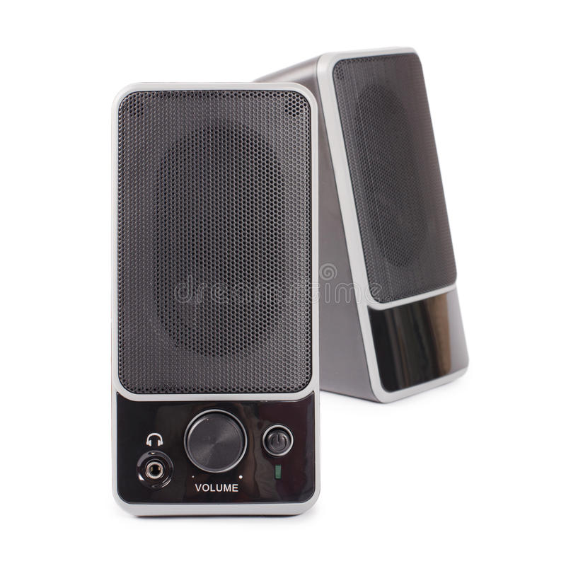 Black two speaker stock photos