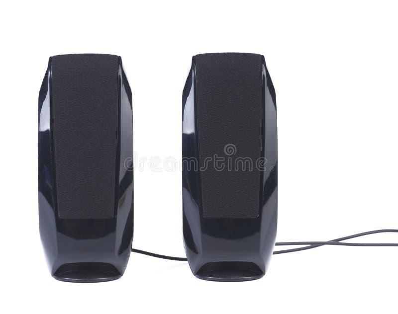Black Two Speaker Isolated On White Background Royalty Free Stock Photos