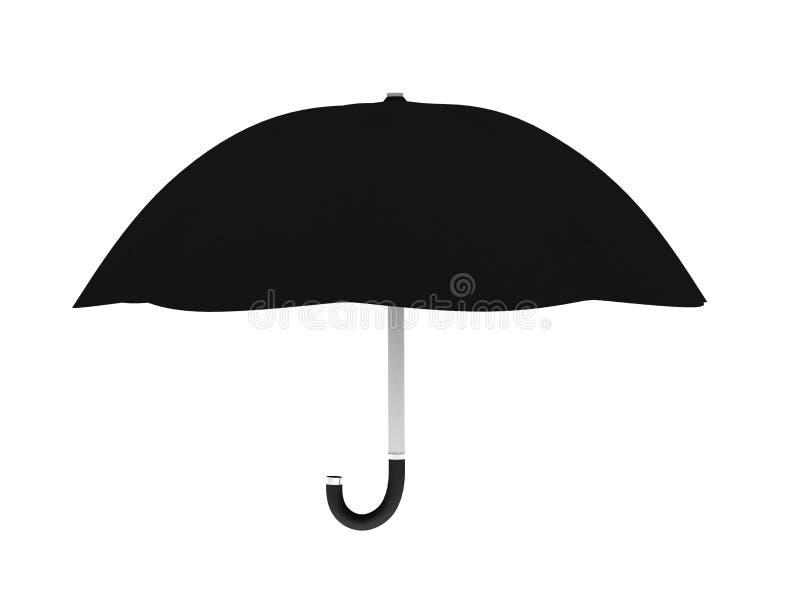Download Black umbrella stock illustration. Image of handle, nobody - 13358926