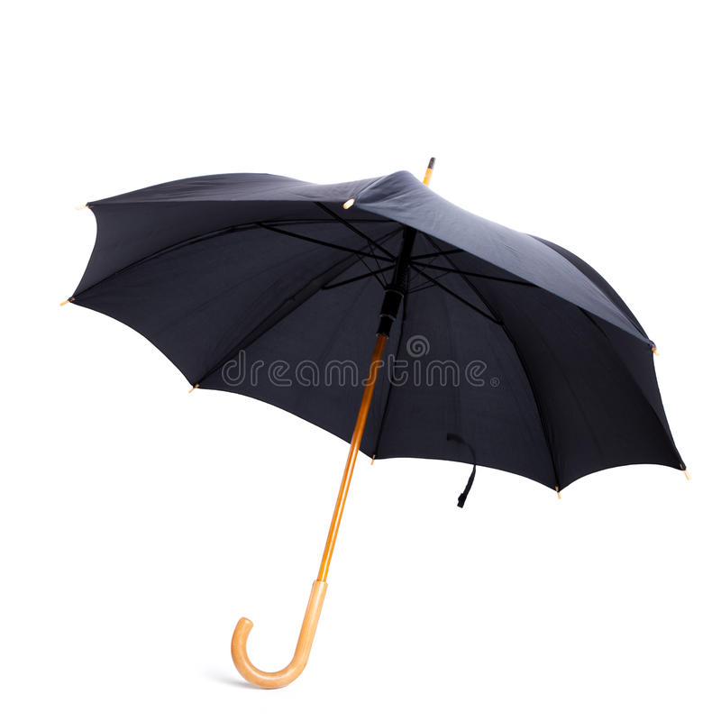 Black umbrella royalty free stock photo