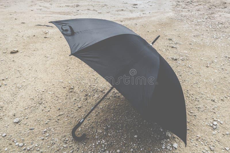 A black umbrella stock photo