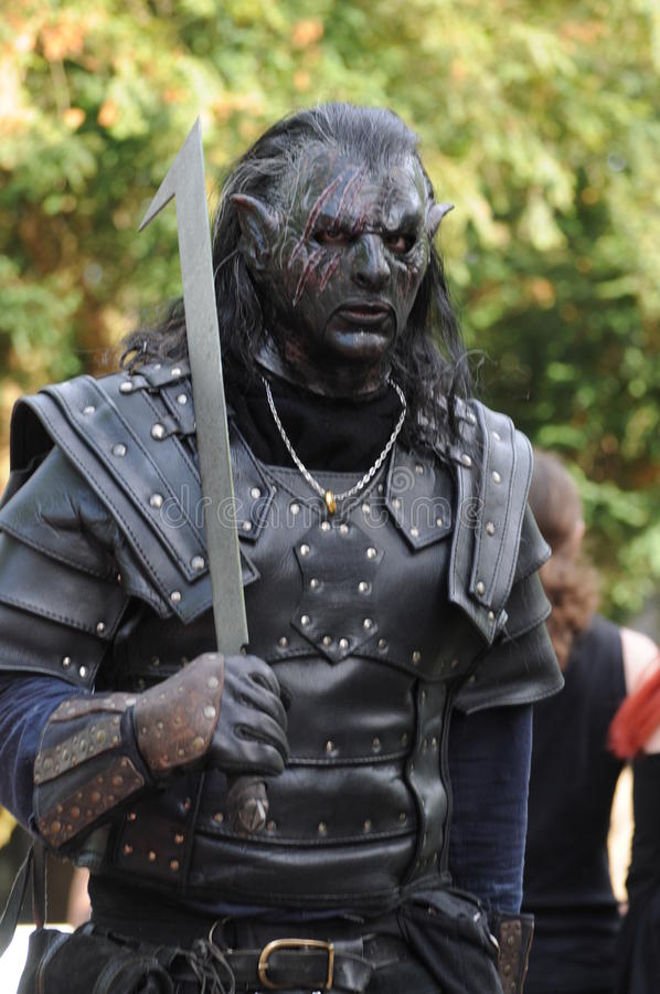 Black Uruk-Hai editorial stock photo. Image of festival - 42510733