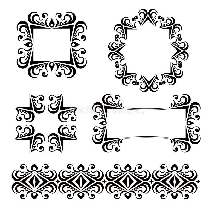 Download Black Vector Frames Decoration Stock Vector - Image: 4769185