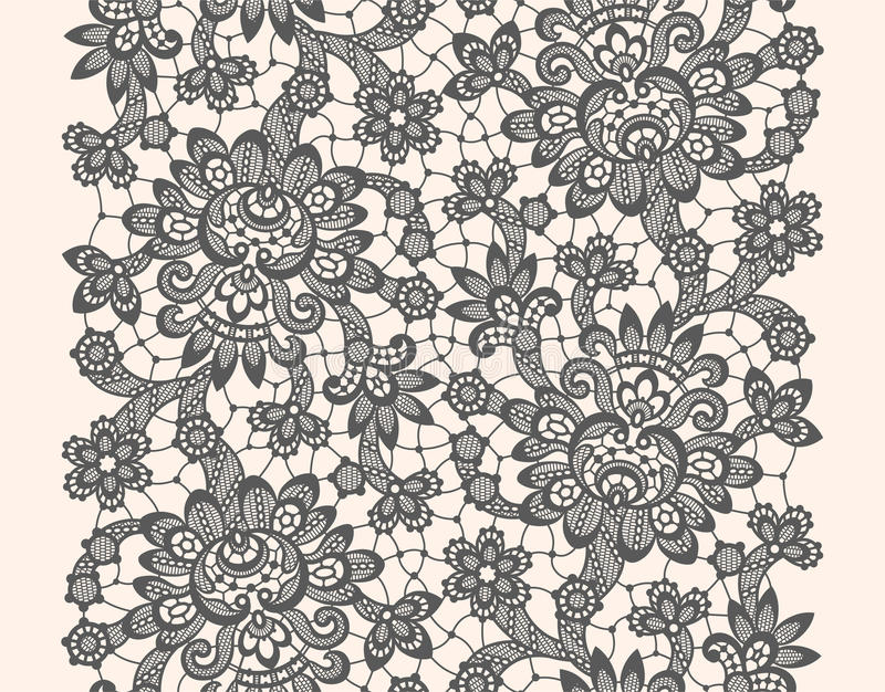 Black Vector Lace stock illustration