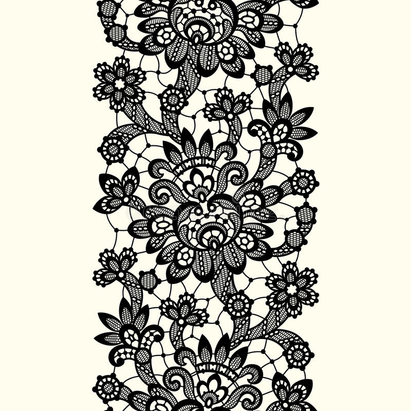 black vector lace stock vector illustration of black 68724462 rh dreamstime com vector wedding floral lace pattern seamless vector lace pattern