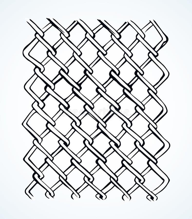 Black vector seamless wavy line pattern. Dark grey color thin repeat bent shape thread stripes. Billowy braid iron chainlink curvy form template fond. Freehand royalty free illustration