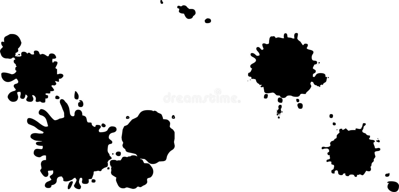 Black vector spots of ink. Abstract black ink blot background. Vector illustration vector illustration