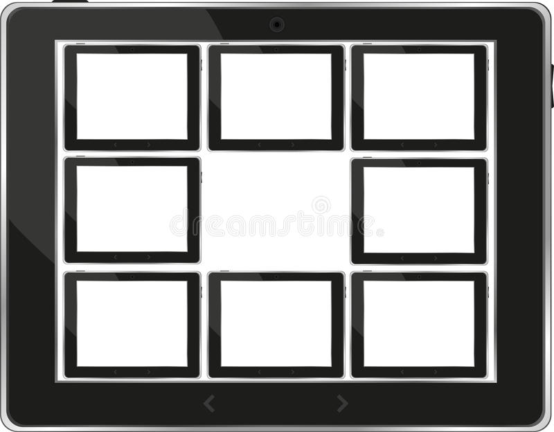 Download Black Vector Tablet Pc Set With White Screen Stock Vector - Image: 24446095
