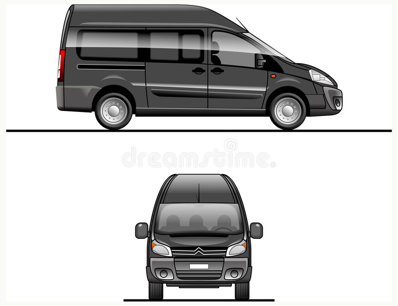 Black Vector Van royalty free stock photo