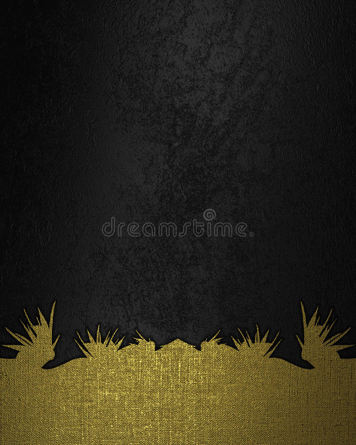 Black Velvet Background : Black velvet background with gold bottom element for