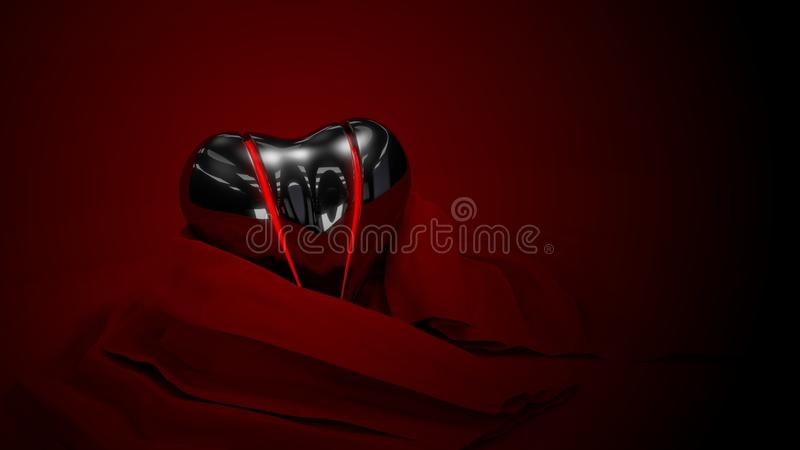 Black Vexed Heart Stock Photos