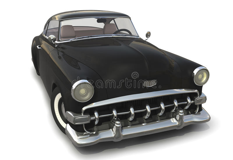 Download Black Vintage Car 3D Model Stock Illustration. Illustration Of  Automobile   22656405