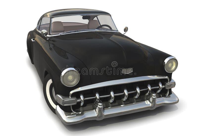 Vintage Black car 3D model stock illustration  Illustration of