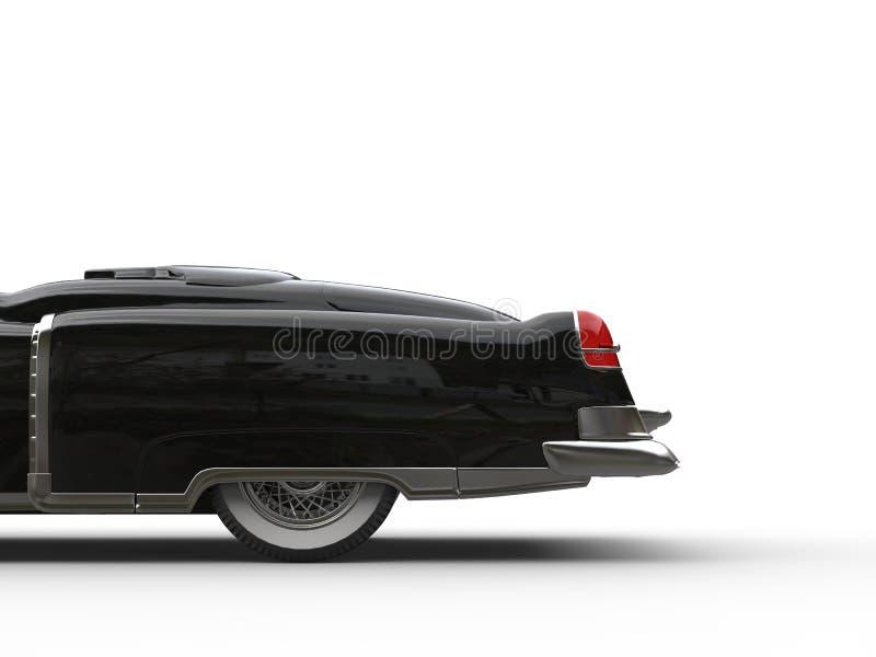 Download Black Vintage Car - Back Cut Shot Stock Illustration - Image: 83717328