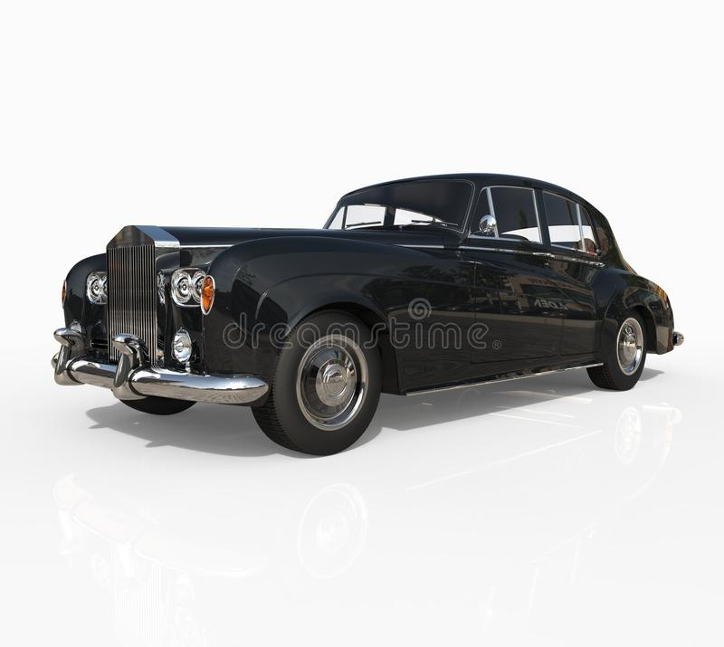 Free Black Vintage Car Shot On White Background - Front View Stock Photography - 42659542
