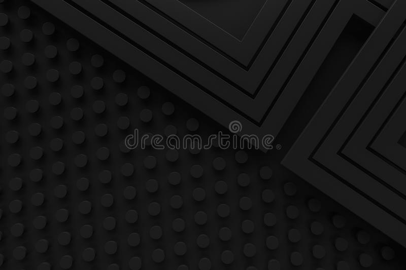 Black vintage retro pattern background line 3d rendering royalty free stock photo