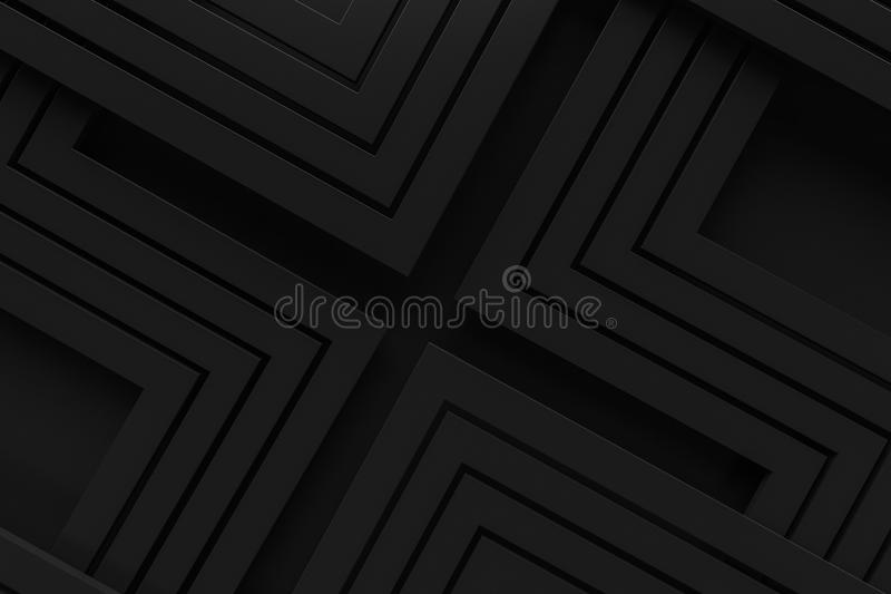 Black vintage retro pattern background line 3d rendering royalty free stock photos