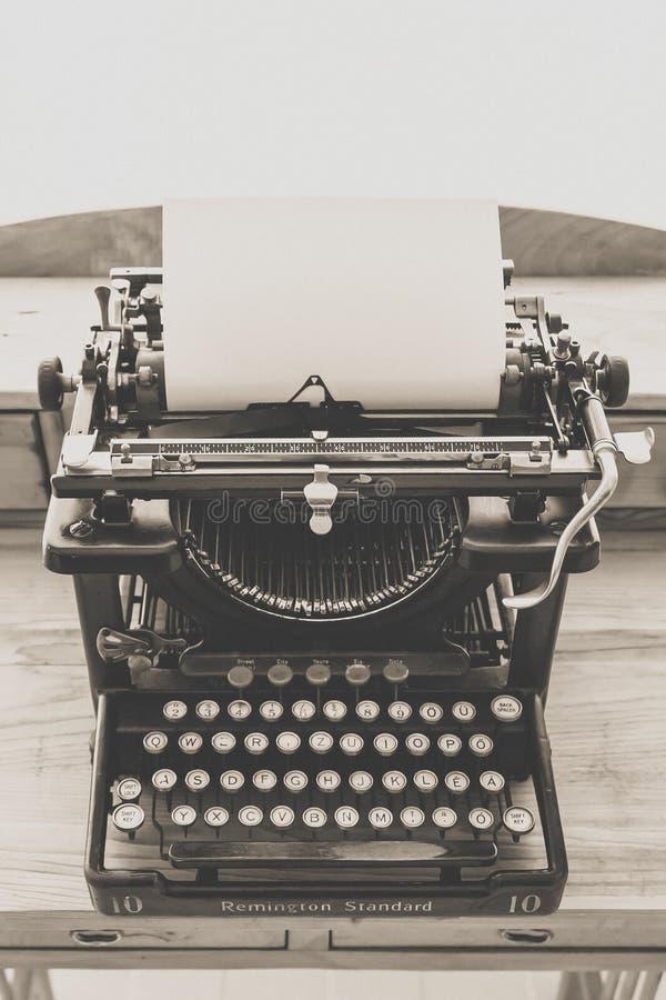 Black Vintage Typewriter stock photos