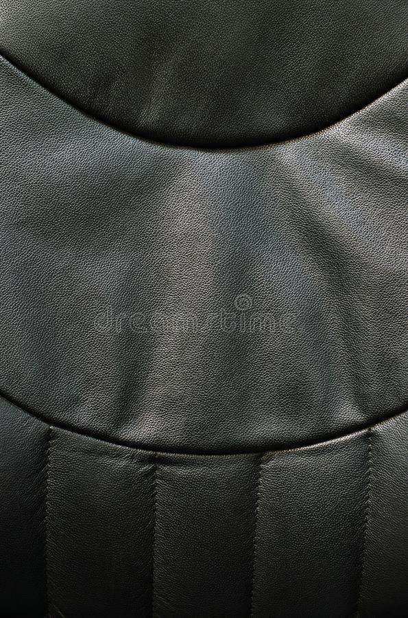 Black vinyl chair abstract textures. royalty free stock photography
